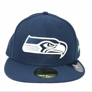 Seattle Seahawks NFL Fitted 59Fifty Flat Brim Hat